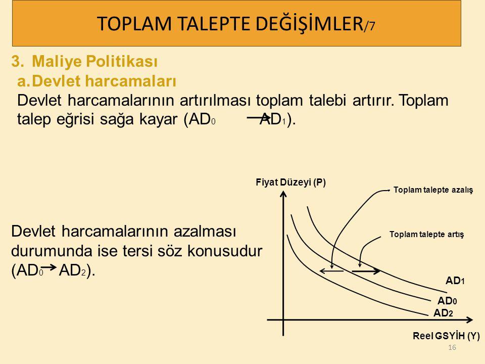 TOPLAM TALEPTE DEĞİŞİMLER/7