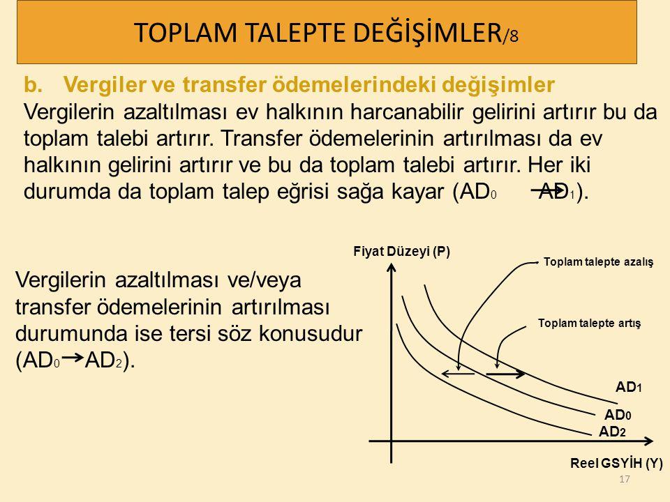 TOPLAM TALEPTE DEĞİŞİMLER/8