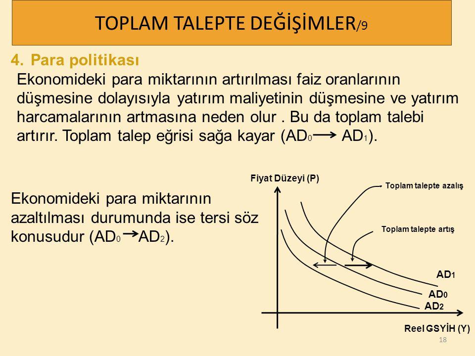 TOPLAM TALEPTE DEĞİŞİMLER/9