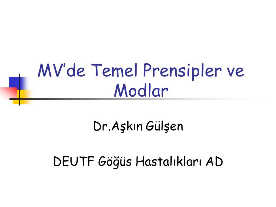MV'de Temel Prensipler ve Modlar