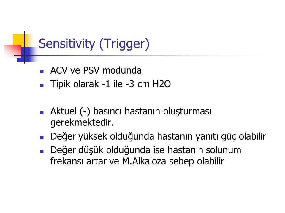 Sensitivity (Trigger)
