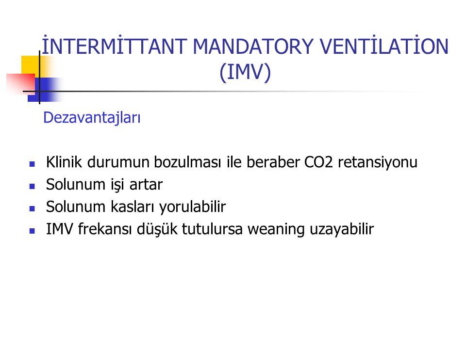 İNTERMİTTANT MANDATORY VENTİLATİON (IMV)