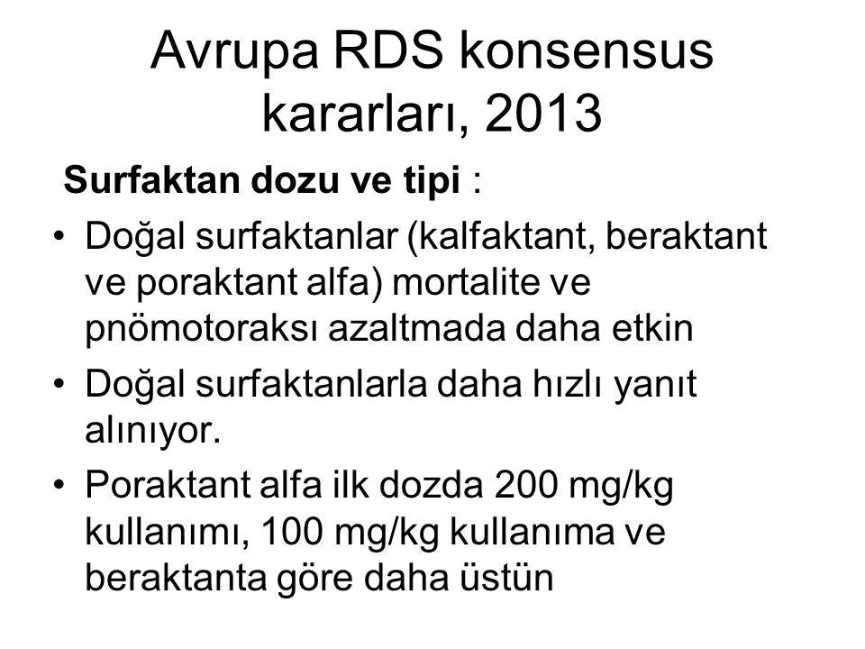 Avrupa RDS konsensus kararları, 2013
