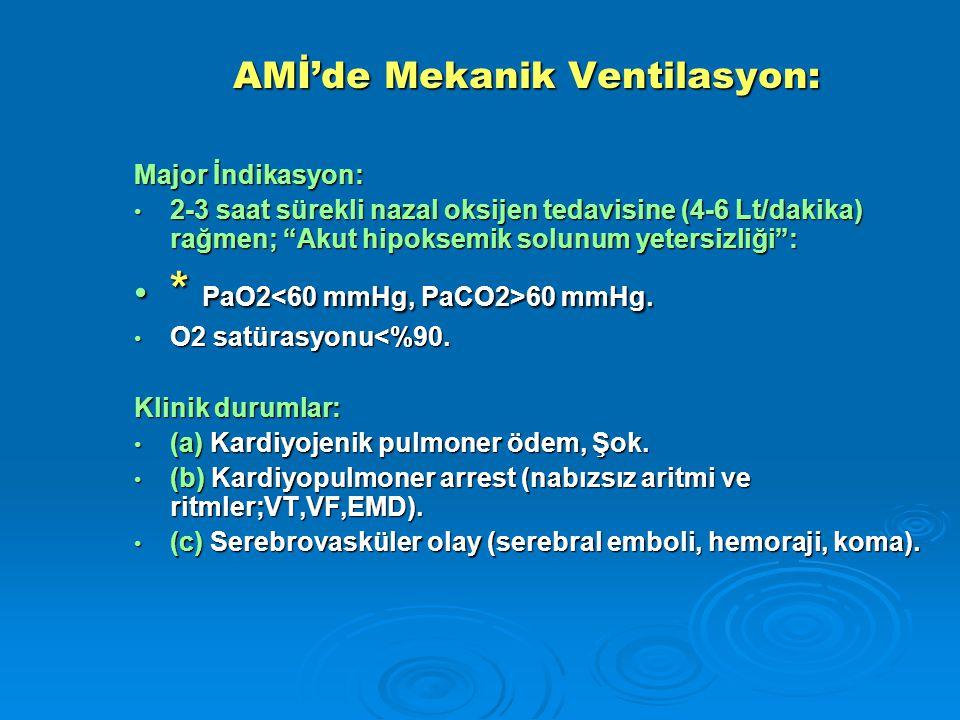 AMİ'de Mekanik Ventilasyon: