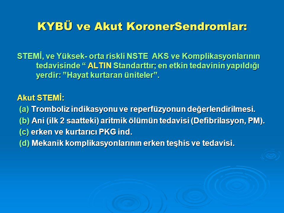KYBÜ ve Akut KoronerSendromlar:
