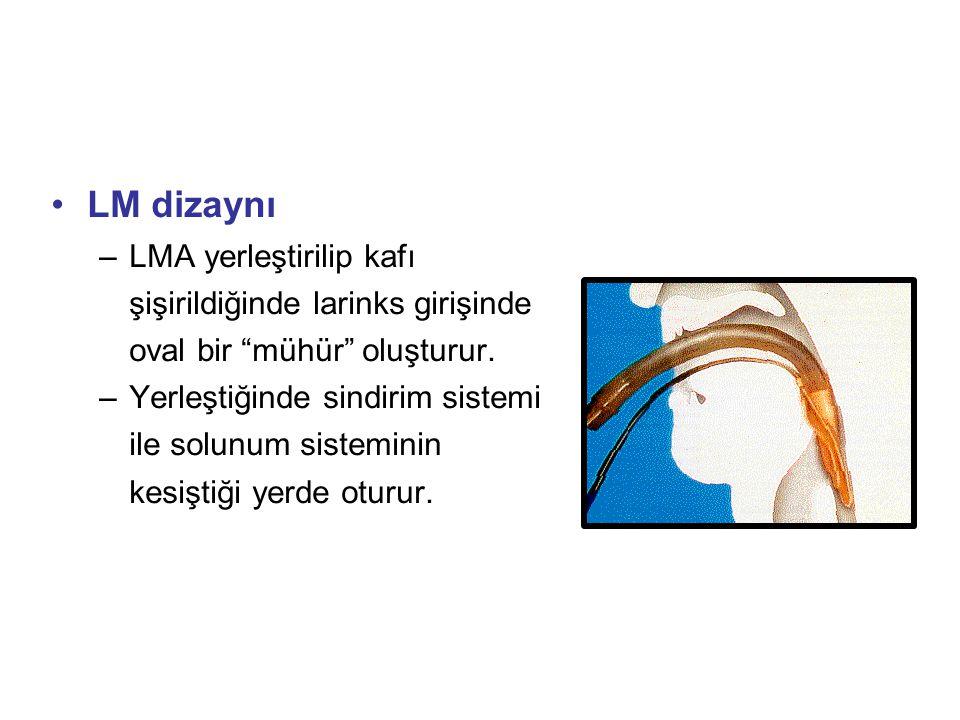 LM dizaynı LMA yerleştirilip kafı şişirildiğinde larinks girişinde oval bir mühür oluşturur.