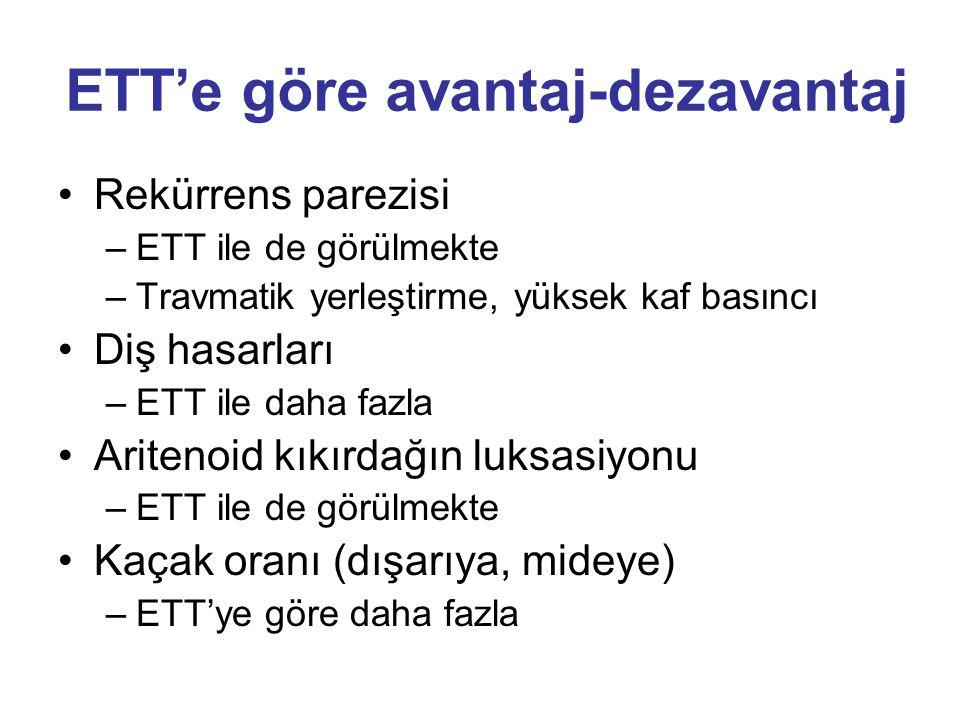 ETT'e göre avantaj-dezavantaj