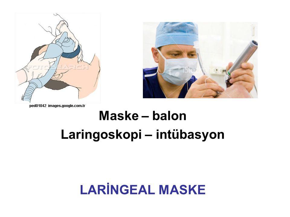 Laringoskopi – intübasyon