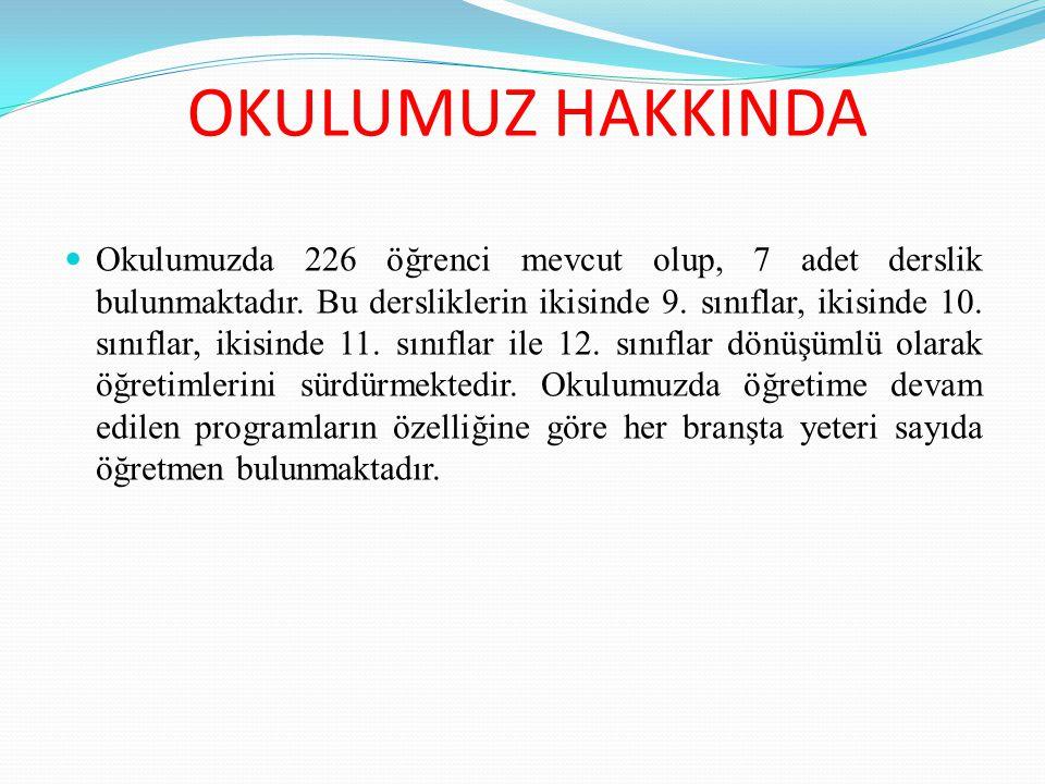 OKULUMUZ HAKKINDA