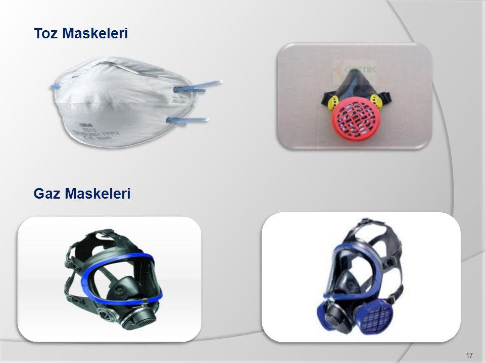 Toz Maskeleri Gaz Maskeleri