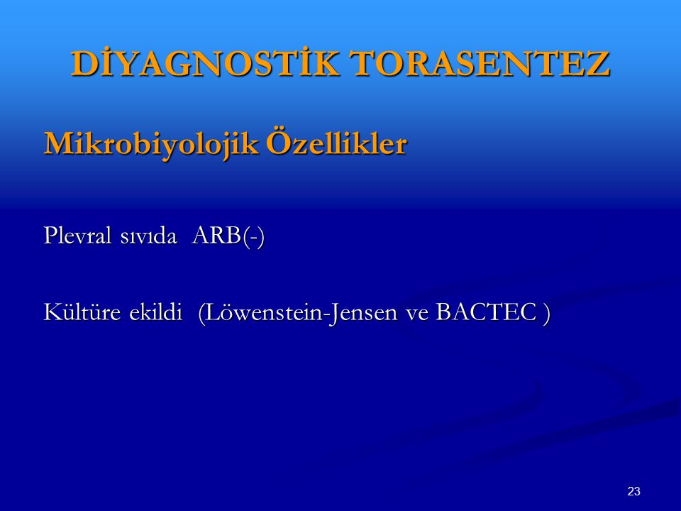 DİYAGNOSTİK TORASENTEZ