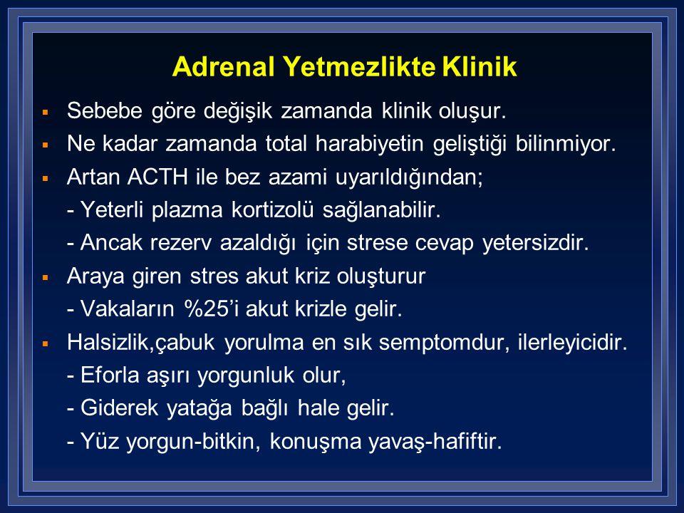 Adrenal Yetmezlikte Klinik