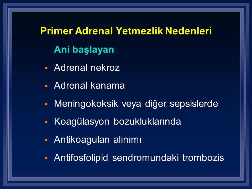 Primer Adrenal Yetmezlik Nedenleri