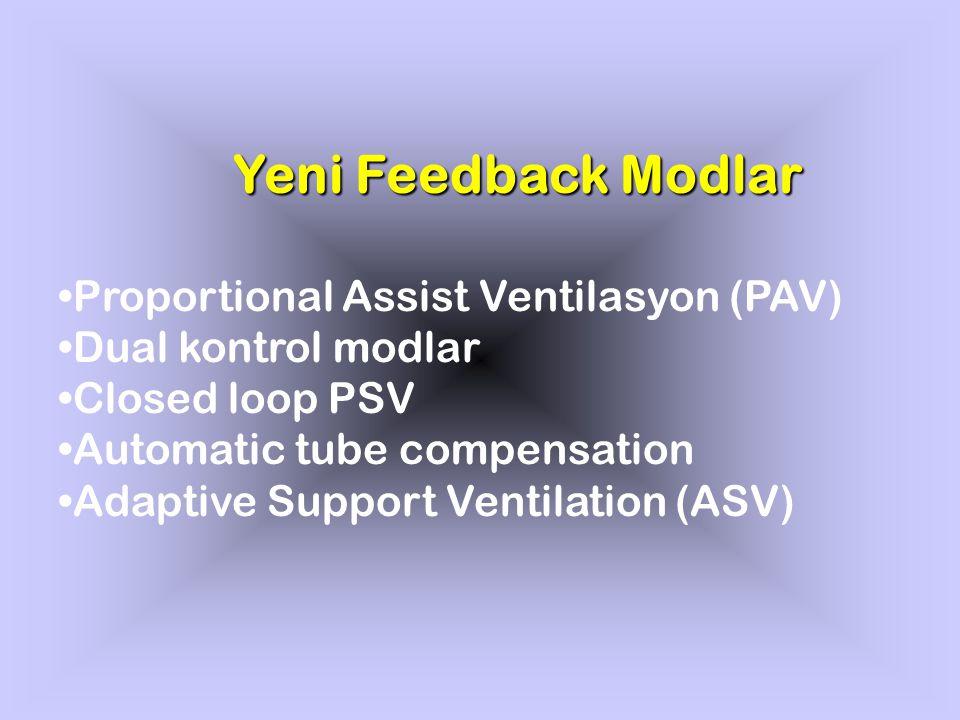 Yeni Feedback Modlar Proportional Assist Ventilasyon (PAV)