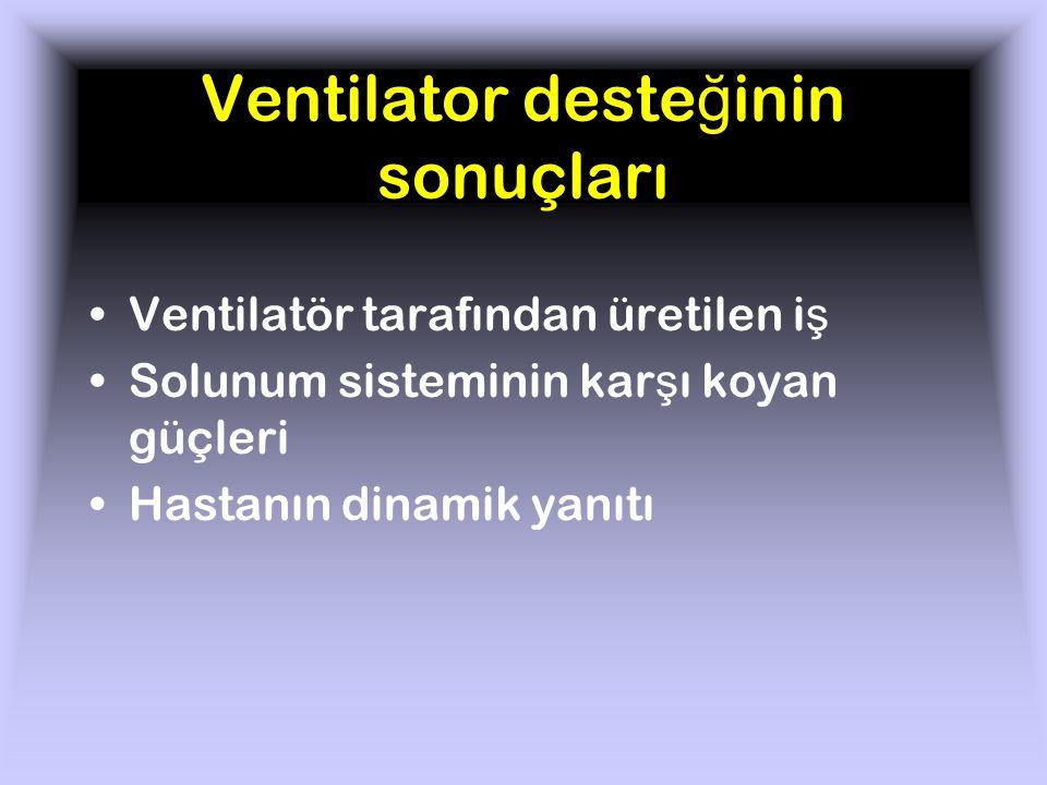 Ventilator desteğinin sonuçları