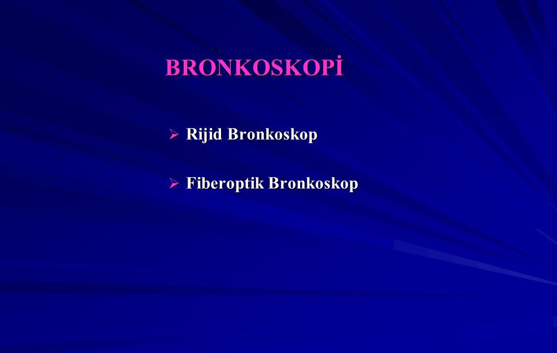 BRONKOSKOPİ Rijid Bronkoskop Fiberoptik Bronkoskop