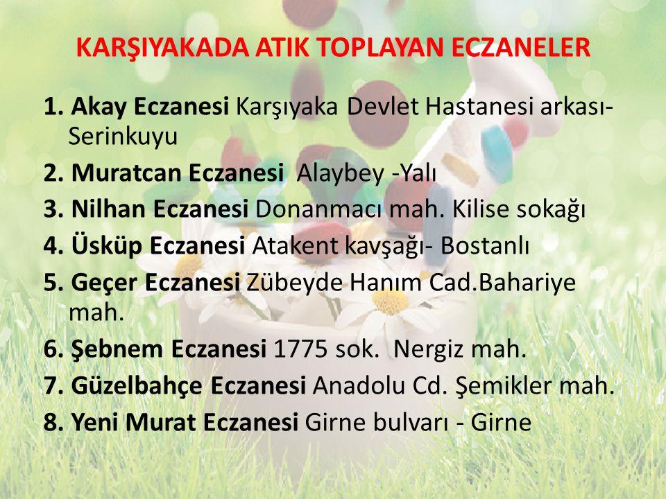 KARŞIYAKADA ATIK TOPLAYAN ECZANELER