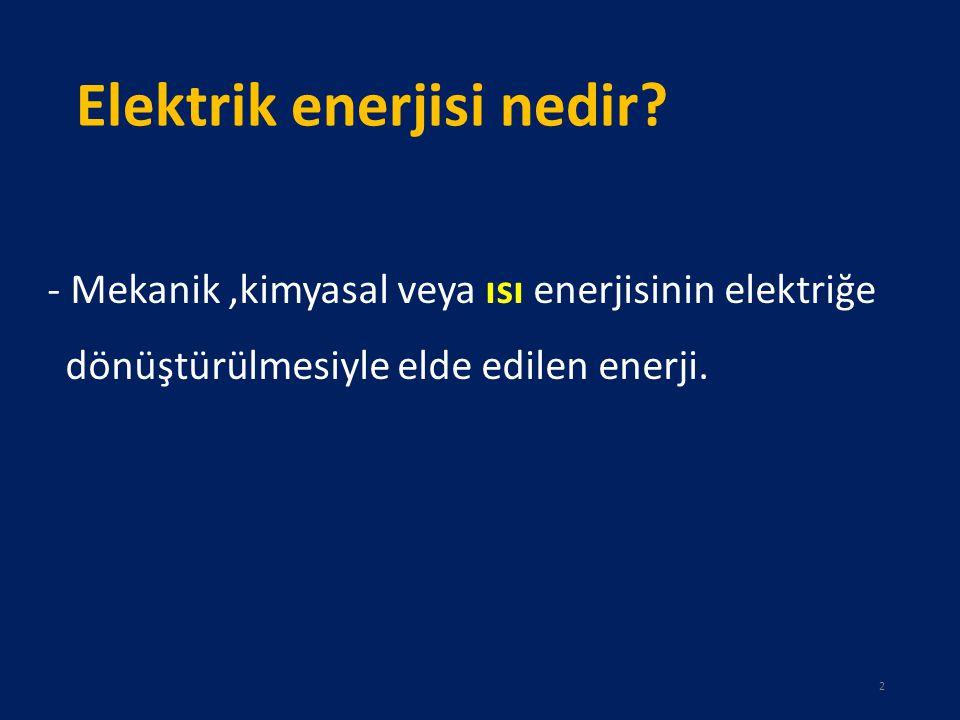 Elektrik enerjisi nedir