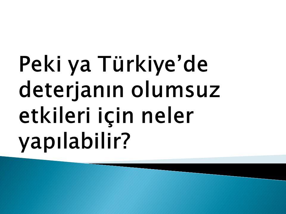 Peki ya Türkiye'de deterjanın olumsuz etkileri için neler yapılabilir