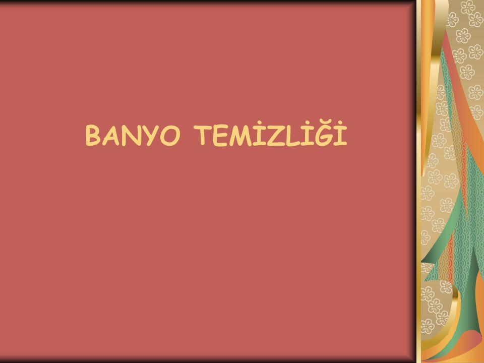 BANYO TEMİZLİĞİ