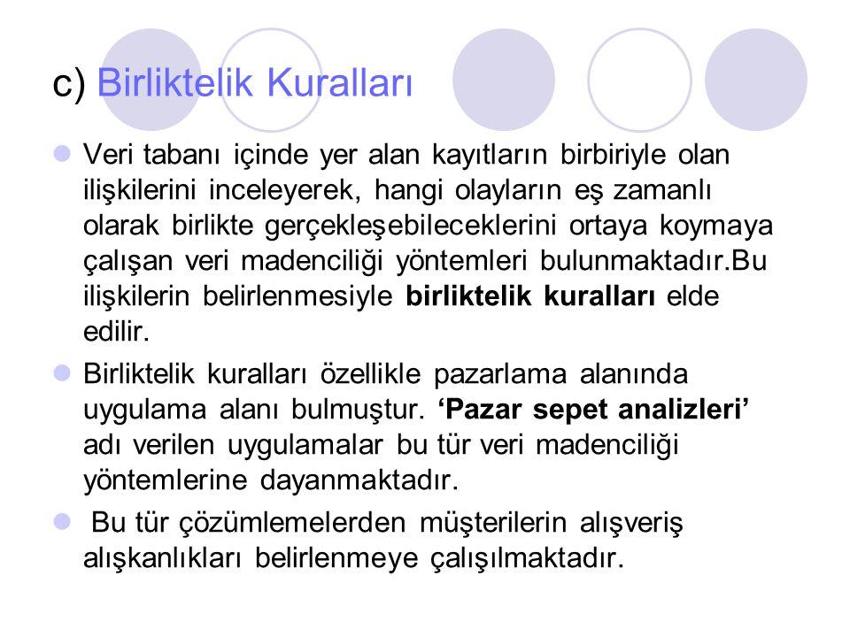 c) Birliktelik Kuralları