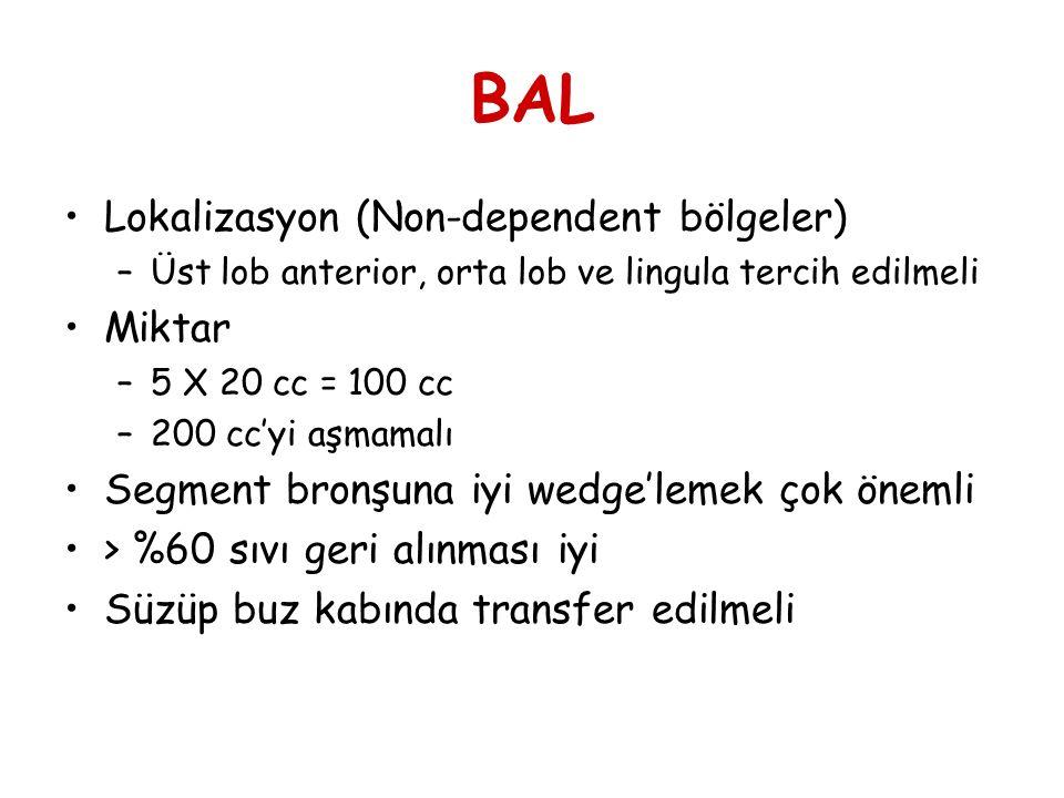 BAL Lokalizasyon (Non-dependent bölgeler) Miktar