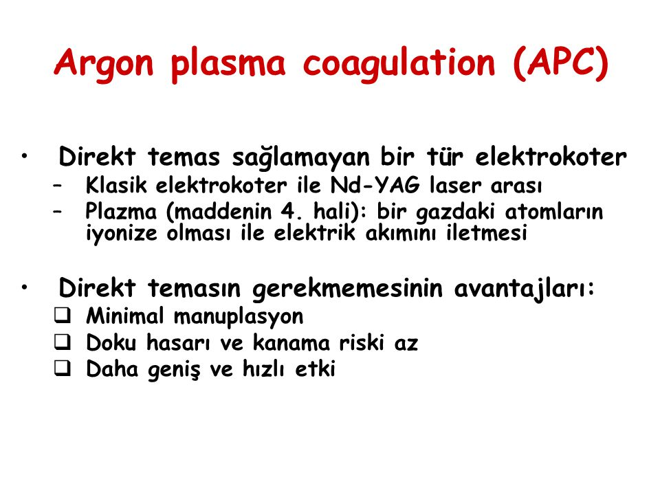 Argon plasma coagulation (APC)