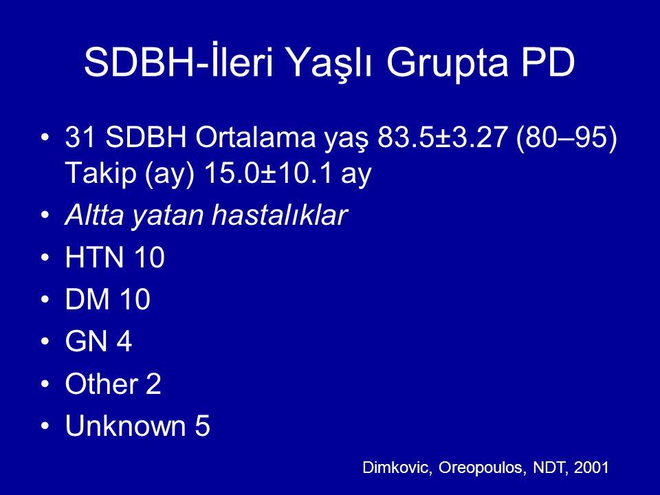SDBH-İleri Yaşlı Grupta PD