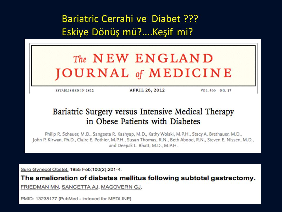 Bariatric Cerrahi ve Diabet