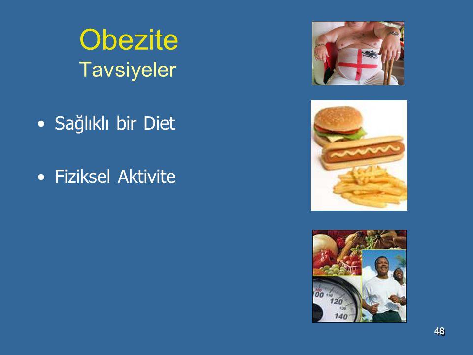 Obezite Tavsiyeler Sağlıklı bir Diet Fiziksel Aktivite 4