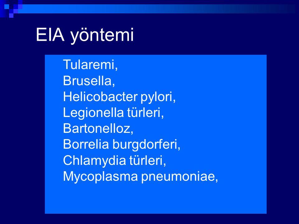 EIA yöntemi Tularemi, Brusella, Helicobacter pylori,