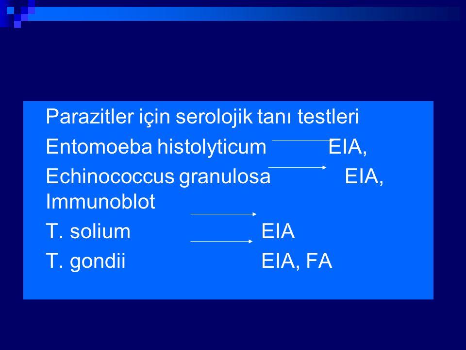 Parazitler için serolojik tanı testleri