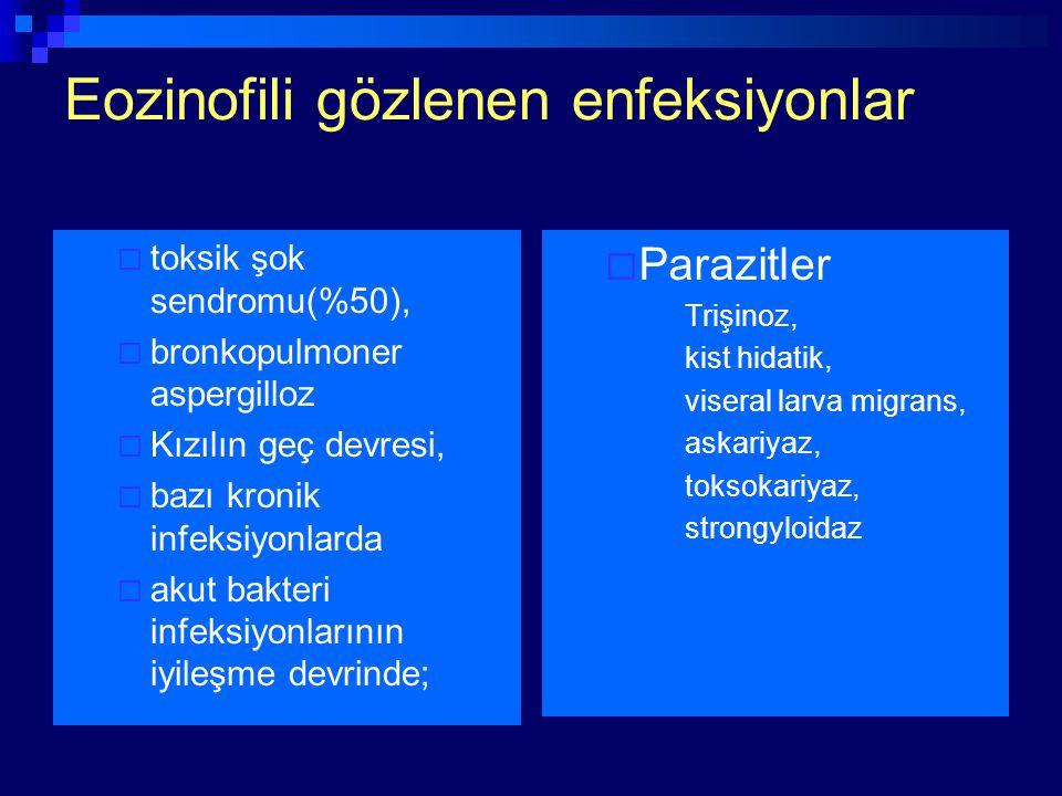 Eozinofili gözlenen enfeksiyonlar