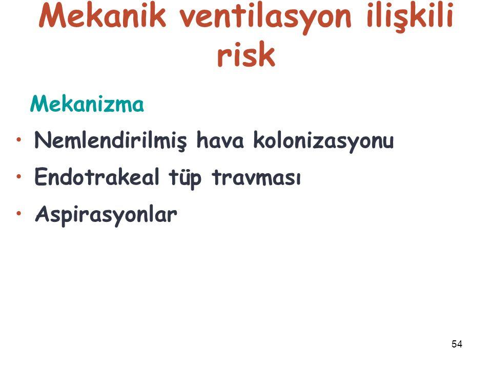 Mekanik ventilasyon ilişkili risk