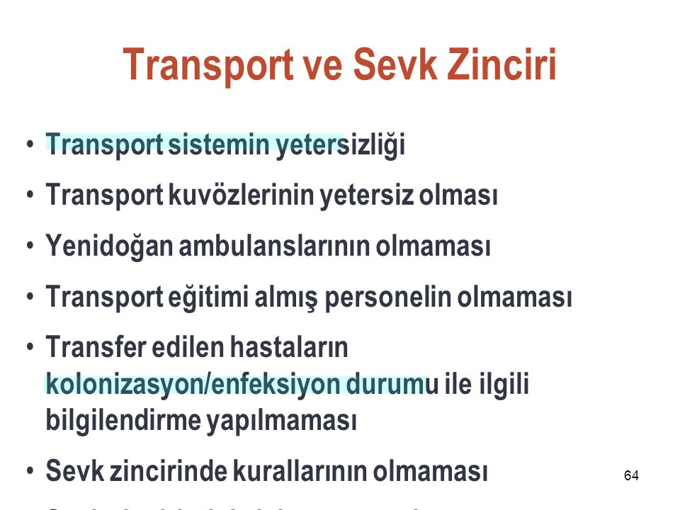 Transport ve Sevk Zinciri