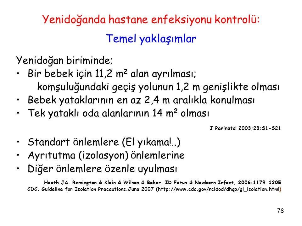 Yenidoğanda hastane enfeksiyonu kontrolü: Temel yaklaşımlar