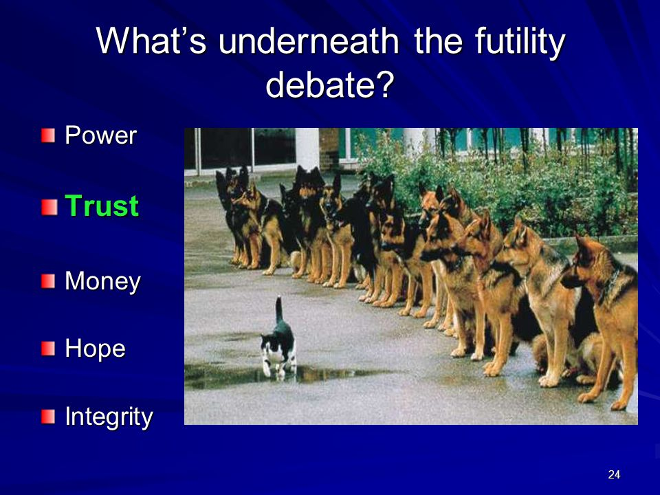 What's underneath the futility debate