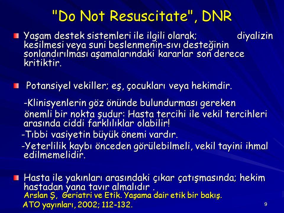 Do Not Resuscitate , DNR