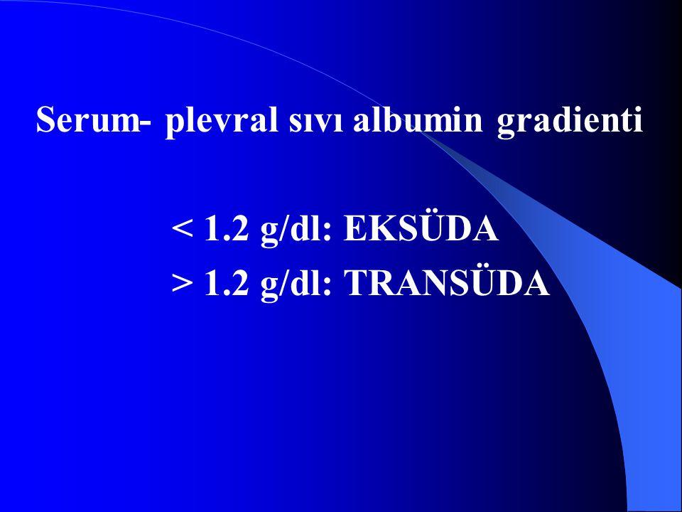 Serum- plevral sıvı albumin gradienti