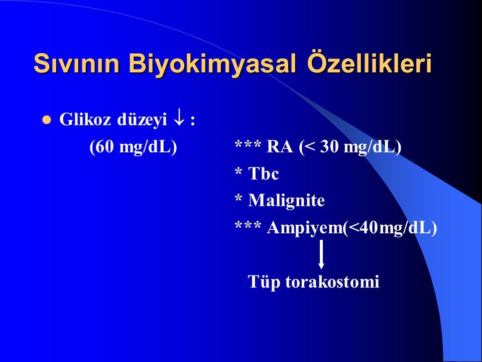 Sıvının Biyokimyasal Özellikleri