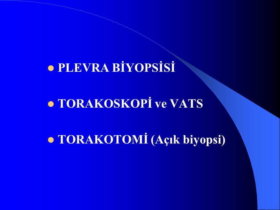 PLEVRA BİYOPSİSİ TORAKOSKOPİ ve VATS TORAKOTOMİ (Açık biyopsi)