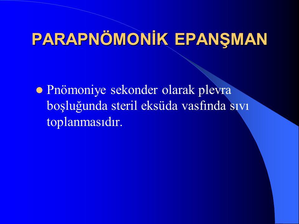 PARAPNÖMONİK EPANŞMAN
