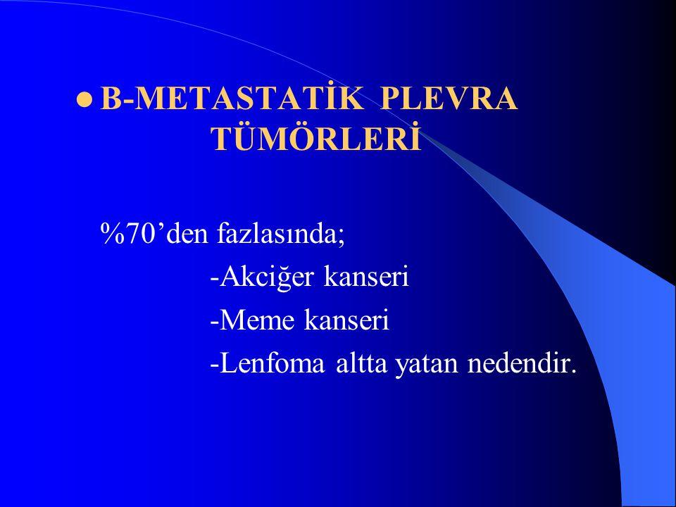 B-METASTATİK PLEVRA TÜMÖRLERİ