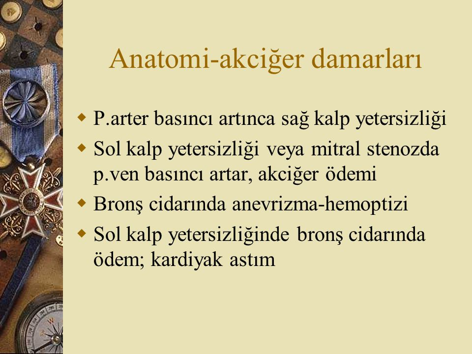 Anatomi-akciğer damarları