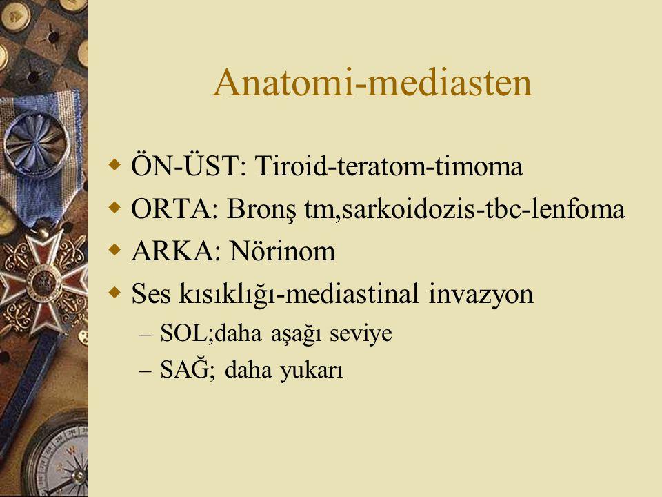 Anatomi-mediasten ÖN-ÜST: Tiroid-teratom-timoma
