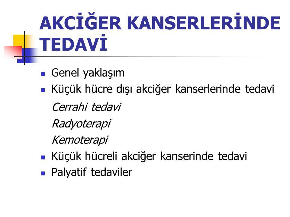 AKCİĞER KANSERLERİNDE TEDAVİ