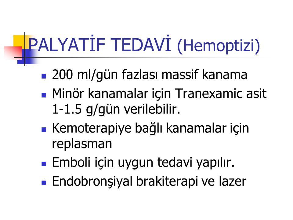 PALYATİF TEDAVİ (Hemoptizi)