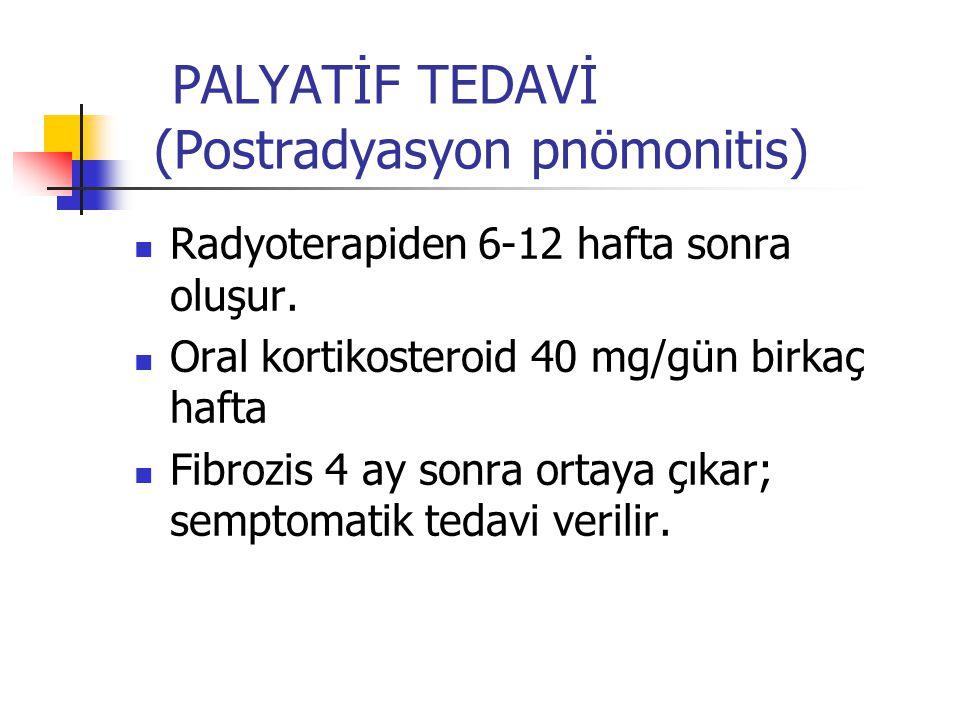 PALYATİF TEDAVİ (Postradyasyon pnömonitis)