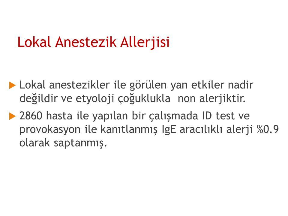 Lokal Anestezik Allerjisi