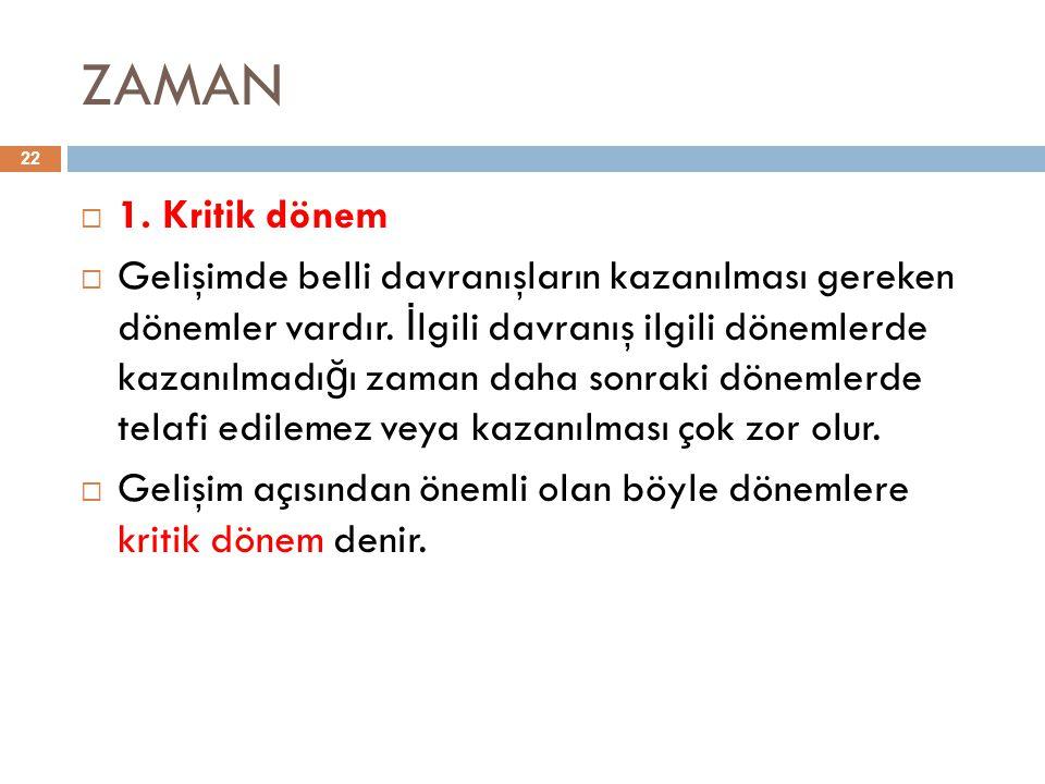 ZAMAN 1. Kritik dönem.